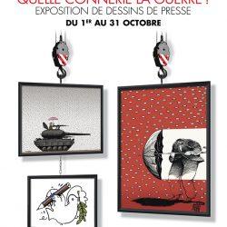 « Quelle connerie la guerre ! », Films et exposition de caricatures à Paris
