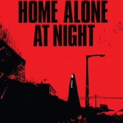 « A Girl Walks Home Alone At Night », croquis en noir, blanc et rouge