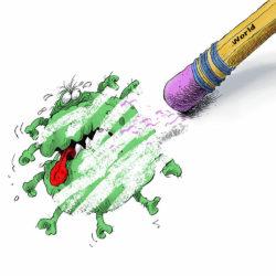 «Nous vaincrons le coronavirus», Concours de caricatures en Iran